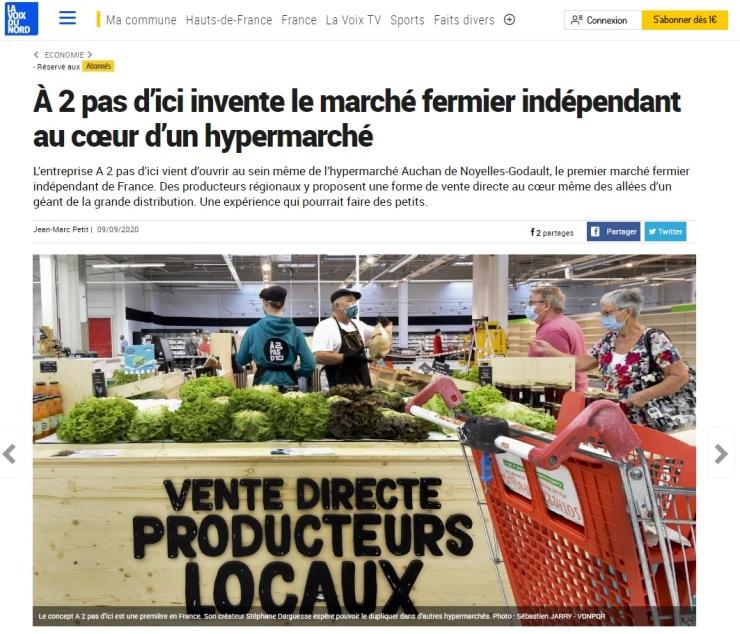 à 2 pas d'ici invente le marché fermier indépendant au coeur d'un hypermarché